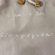 画像3: 【クチュール/巾着】ブルーディッシュ手刺繍ランジェリーポーチ*ベージュ* (3)