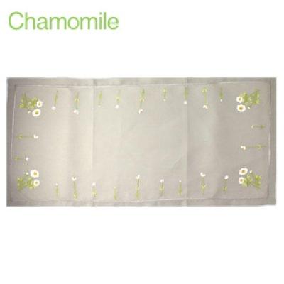 画像2: 【クチュール/ホームリネン】カモミール手刺繍センターテーブル ホワイト