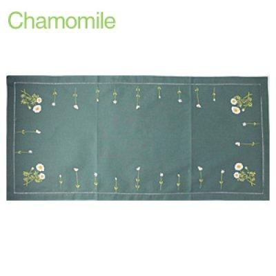 画像3: 【クチュール/ホームリネン】カモミール手刺繍センターテーブル ホワイト