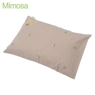 画像2: 【クチュール/ベッドリネン】手刺繍ミモザ枕カバー グリーン