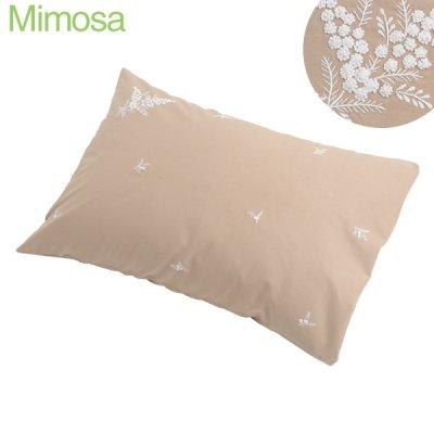 画像2: 【クチュール/ベッドリネン】白糸刺繍ミモザ枕カバー