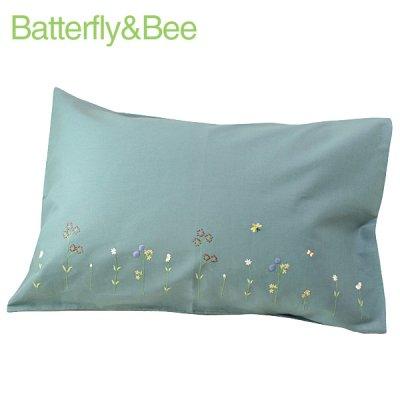 画像3: 【クチュール/ベッドリネン】バタフライ&ビー手刺繍枕カバー ベージュ