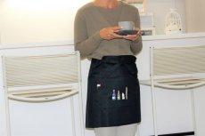 画像3: 【クチュール/エプロン】ミモザ手刺繍カフェエプロン ベージュ  (3)