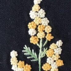 画像4: 【クチュール/バッグ】ミモザ手刺繍よこトート (4)
