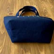 画像2: 【クチュール/バッグ】ミモザ手刺繍デリカバッグ|濃紺| (2)