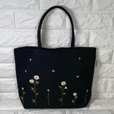 画像3: 【クチュール/バッグ】カモミール手刺繍よこトート (3)