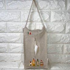 画像2: 【クチュール/雑貨】オリーブオイル手刺繍ティッシュ箱ホルダー (2)