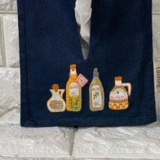 画像1: 【クチュール/雑貨】オリーブオイル手刺繍ティッシュ箱ホルダー (1)