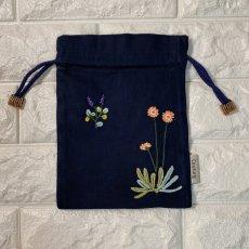 画像3: 手刺繍ナチュール柄キンチャク (3)