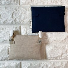 画像4: 【クチュール/雑貨】ラベンダー手刺繍ミニティッシュケース&移動ポケット (4)