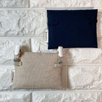 画像1: 【クチュール/雑貨】ラベンダー手刺繍ミニティッシュケース&移動ポケット