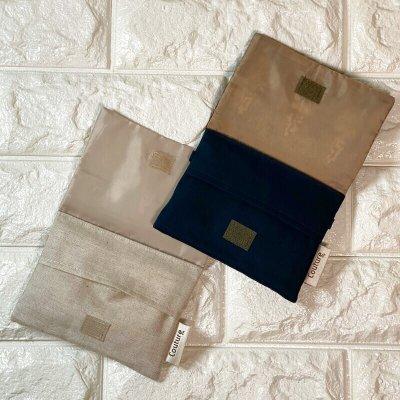 画像2: 【クチュール/雑貨】ラベンダー手刺繍ミニティッシュケース&移動ポケット