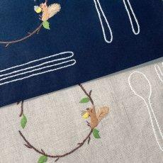 画像3: 手刺繍りす柄ティーマット (3)