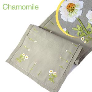 画像1: 【クチュール/ホームリネン】カモミール手刺繍センターテーブル ベージュ (1)
