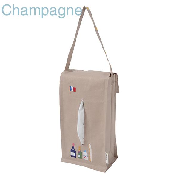 画像1: 【クチュール/生活雑貨】シャンパン手刺繍ティッシュボックスホルダー ベージュ (1)