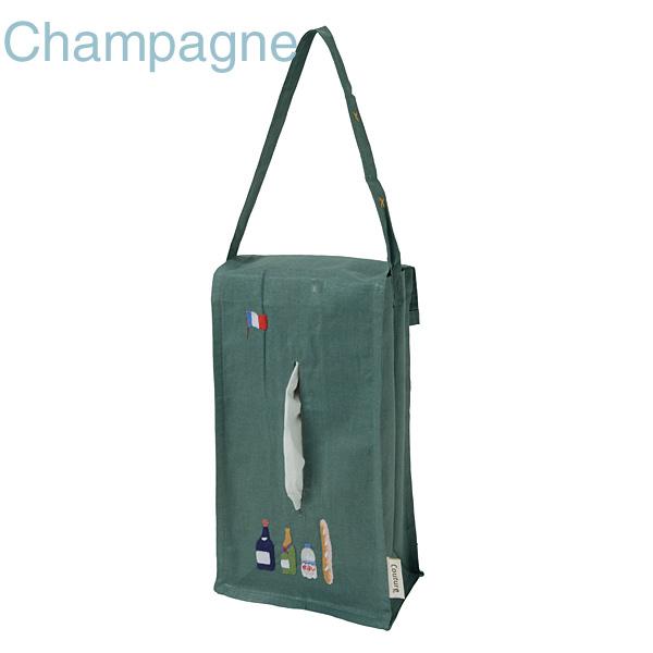 画像1: 【クチュール/生活雑貨】シャンパン手刺繍ティッシュボックスホルダー グリーン (1)